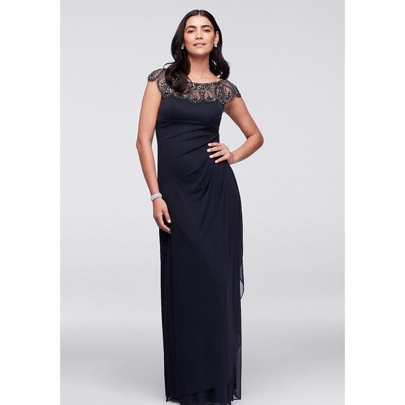 Host Pick Xscape Dress With Beaded Neckline | Poshmark